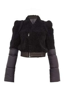 Rick Owens Shearling-panelled padded-shell jacket