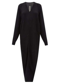 Rick Owens Side-slit V-neck maxi dress