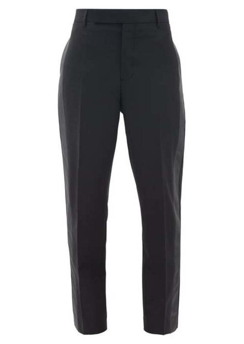 Rick Owens Side-stripe slim-leg crepe trousers