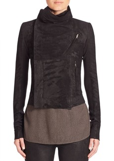 Rick Owens Signature Cropped Leather Biker