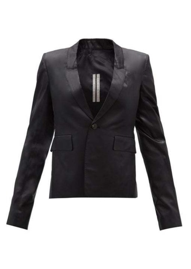 Rick Owens Single-breasted satin blazer