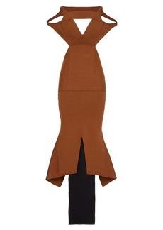 Rick Owens Sling contrast-hem jersey maxi dress