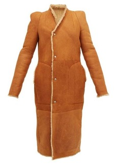 Rick Owens Slit-cuff panelled shearling coat