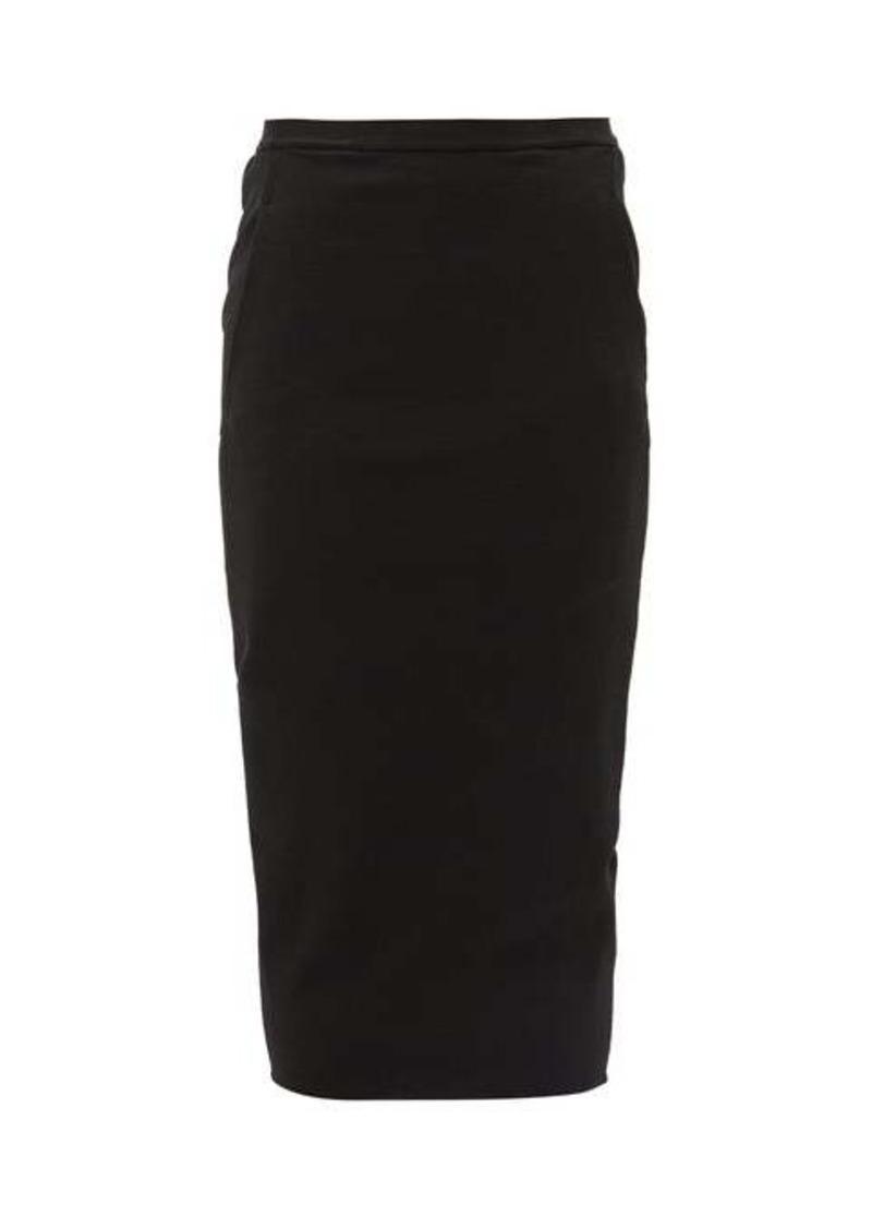 Rick Owens Soft Pillar cotton-blend pencil skirt