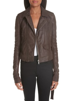 Rick Owens Stooges Belted Leather Jacket