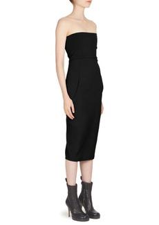 Rick Owens Strapless Bustier Dress