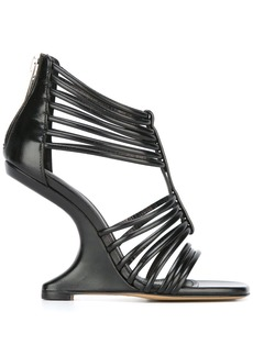 Rick Owens strappy wedge sandals - Black