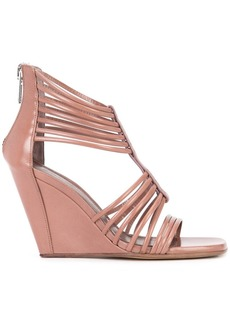 Rick Owens strappy wedge sandals - Nude & Neutrals