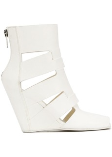 Rick Owens strappy wedge sandals - White