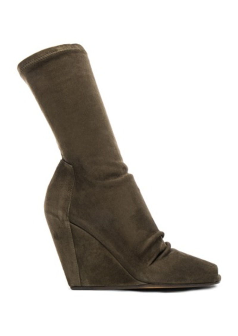 Rick Owens Stretch Wedge Open Toe Boots