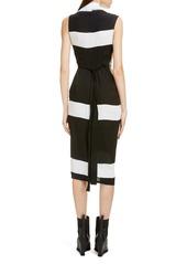 Rick Owens Stripe Wrap Midi Dress