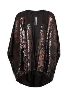 Rick Owens Tecmantle sequinned cape