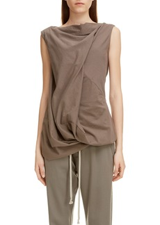 Rick Owens Tie Back Drape Top