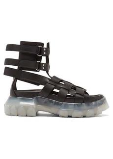 Rick Owens Tractor-sole leather flatform sandals