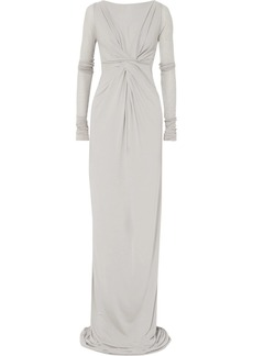 Rick Owens Twist-front stretch-jersey maxi dress
