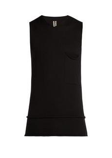 Rick Owens V-neck cashmere tank top