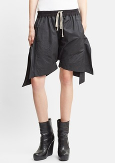 Rick Owens Waxed Drawstring Shorts