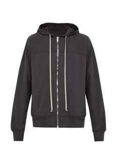 Rick Owens Windbreaker zip-through hooded cotton sweatshirt