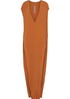 Rick Owens Woman Arrowhead Crepe Maxi Dress Tan