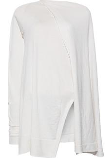 Rick Owens Woman Asymmetric Cape-back Cashmere-blend Tunic Ivory