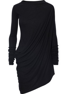 Rick Owens Woman Asymmetric Jersey Top Black