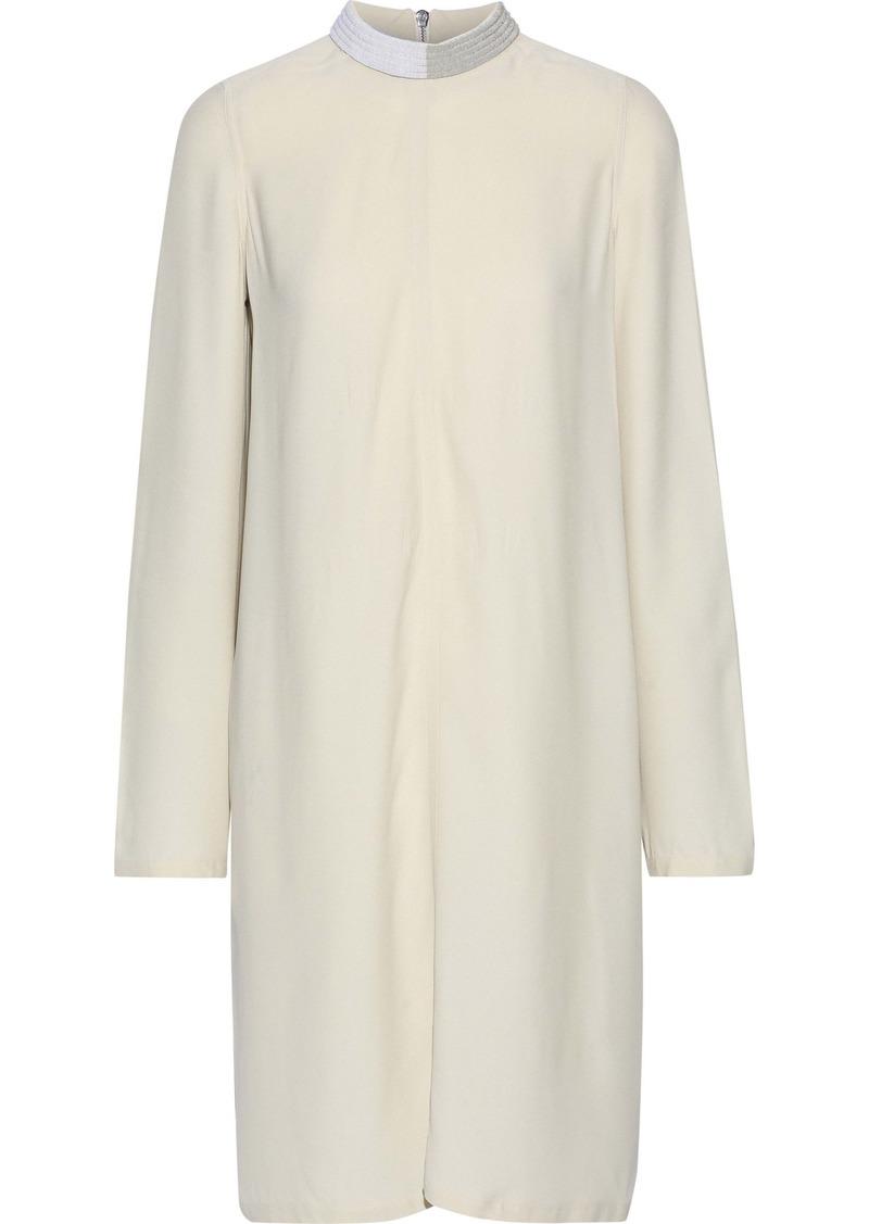 Rick Owens Woman Bead-embellished Crepe De Chine Dress Ivory