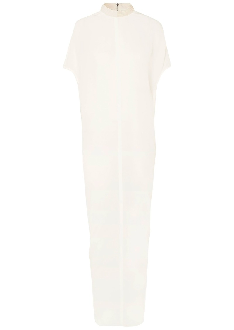 Rick Owens Woman Bead-embellished Silk-georgette Maxi Dress White