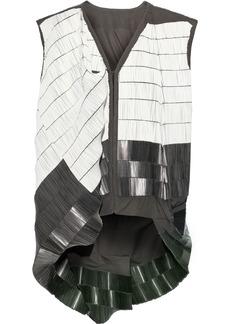 Rick Owens Woman Beaded Cotton-blend Canvas Vest Anthracite