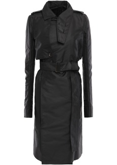 Rick Owens Woman Belted Shell Trench Coat Black