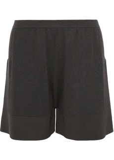 Rick Owens Woman Boxer Brushed Cotton-blend Shorts Dark Gray
