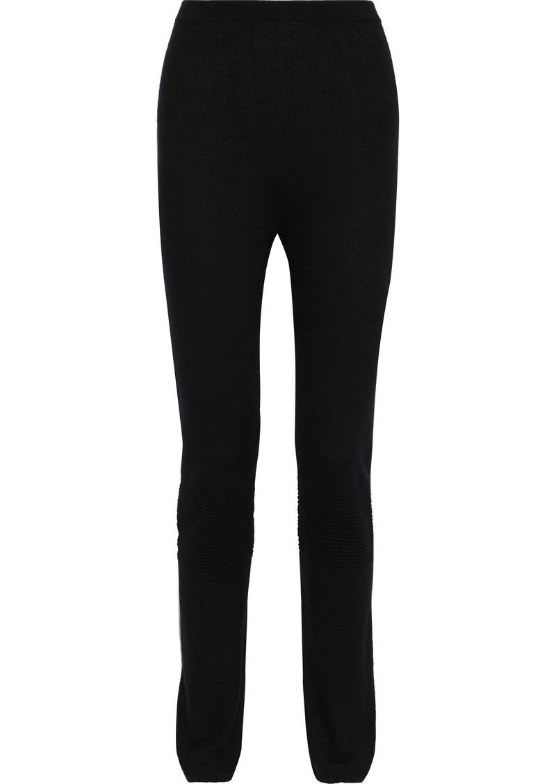 Rick Owens Woman Cashmere Slim-leg Pants Black