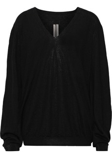 Rick Owens Woman Brushed-cashmere Sweater Black
