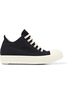 Rick Owens Woman Canvas Sneakers Black