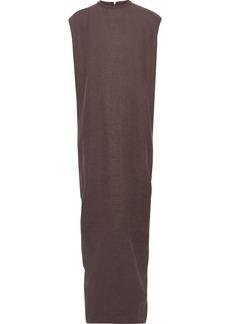 Rick Owens Woman Canvas-trimmed Camel Hair And Linen-blend Maxi Dress Grape