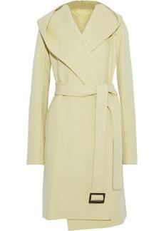 Rick Owens Woman Cashmere-felt Hooded Coat Light Green