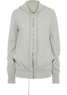 Rick Owens Woman Cashmere Hoodie Stone