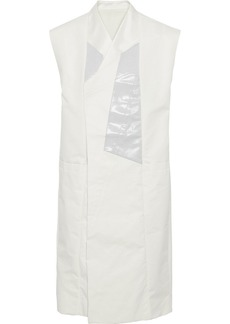 Rick Owens Woman Coated Cotton Blend-paneled Shell Vest White