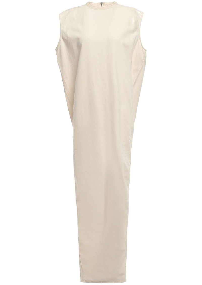 Rick Owens Woman Coated Cotton-jersey Maxi Dress White