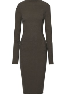 Rick Owens Woman Cotton-blend Crepe Dress Dark Gray