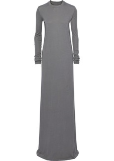 Rick Owens Woman Cotton-jersey Gown Gray