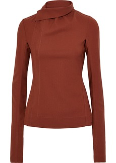 Rick Owens Woman Crepe Jacket Tan
