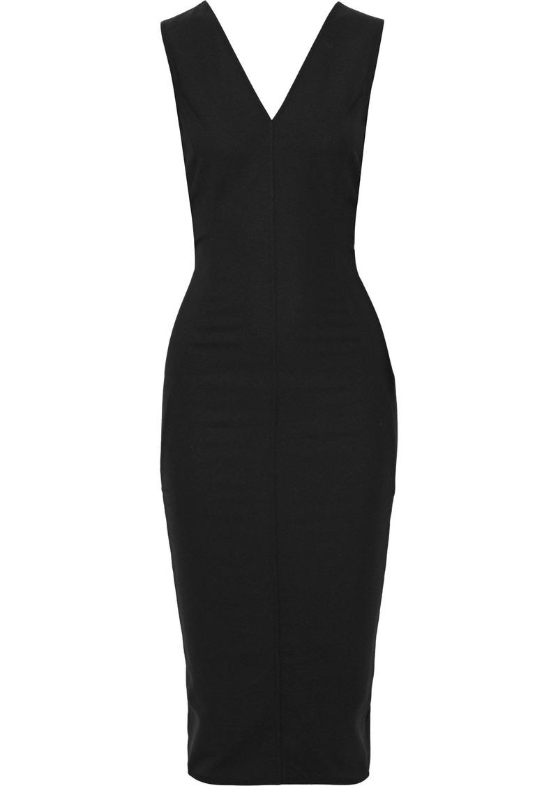 Rick Owens Woman Crepe Midi Dress Black