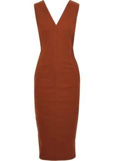 Rick Owens Woman Crepe Midi Dress Tan