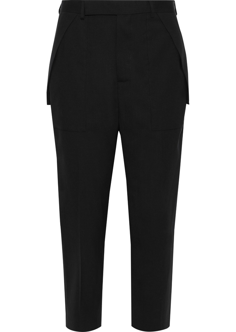Rick Owens Woman Cropped Wool-blend Tapered Pants Black