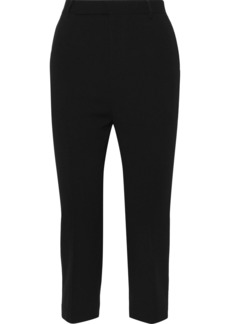 Rick Owens Woman Astaire Cropped Wool Tapered Pants Black