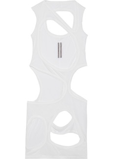 Rick Owens Woman Cutout Slub Cotton-jersey Dress White