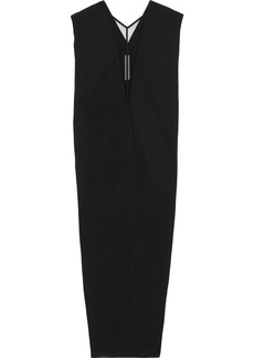 Rick Owens Woman Dagger Tulle-paneled Cotton-blend Maxi Dress Black