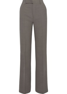 Rick Owens Woman Dietrich Wool-blend Crepe Straight-leg Pants Gray