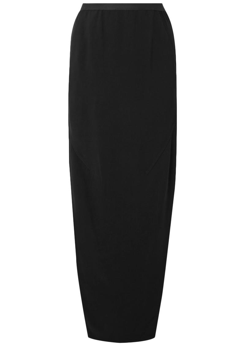 Rick Owens Woman Dirt Split-side Jersey Maxi Skirt Black