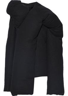 Rick Owens Woman Doll Camel And Linen-blend Down Coat Black